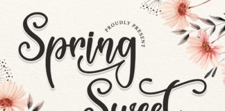 Free Spring Sweet Calligraphy Font