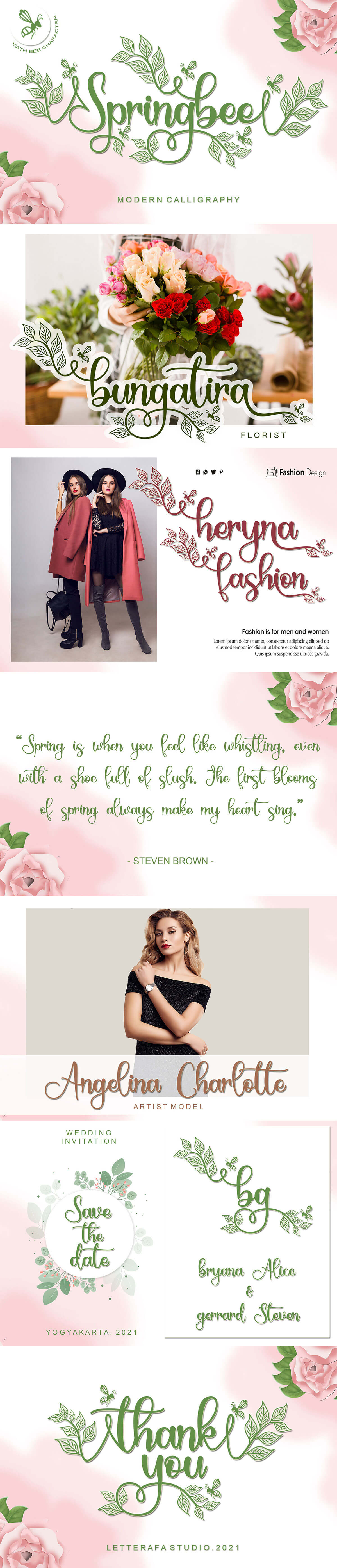 Free Springbee Calligraphy Font