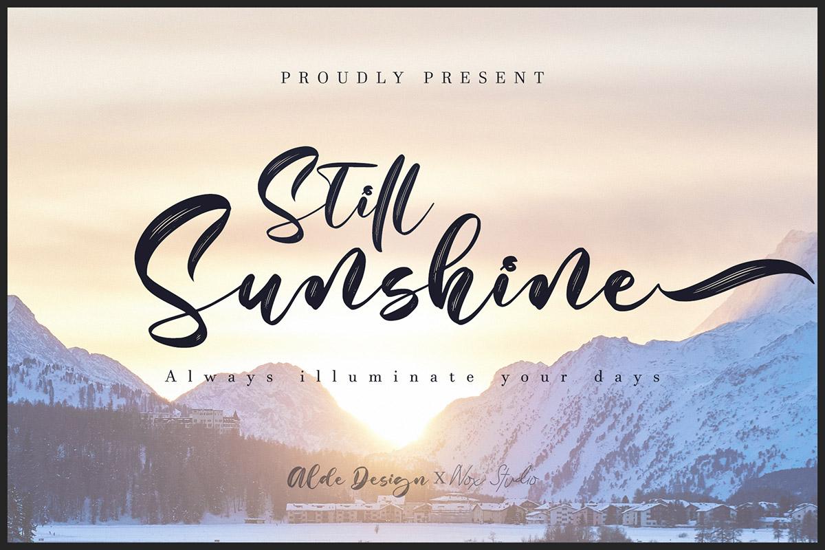 Free Still Sunshine Script Typeface