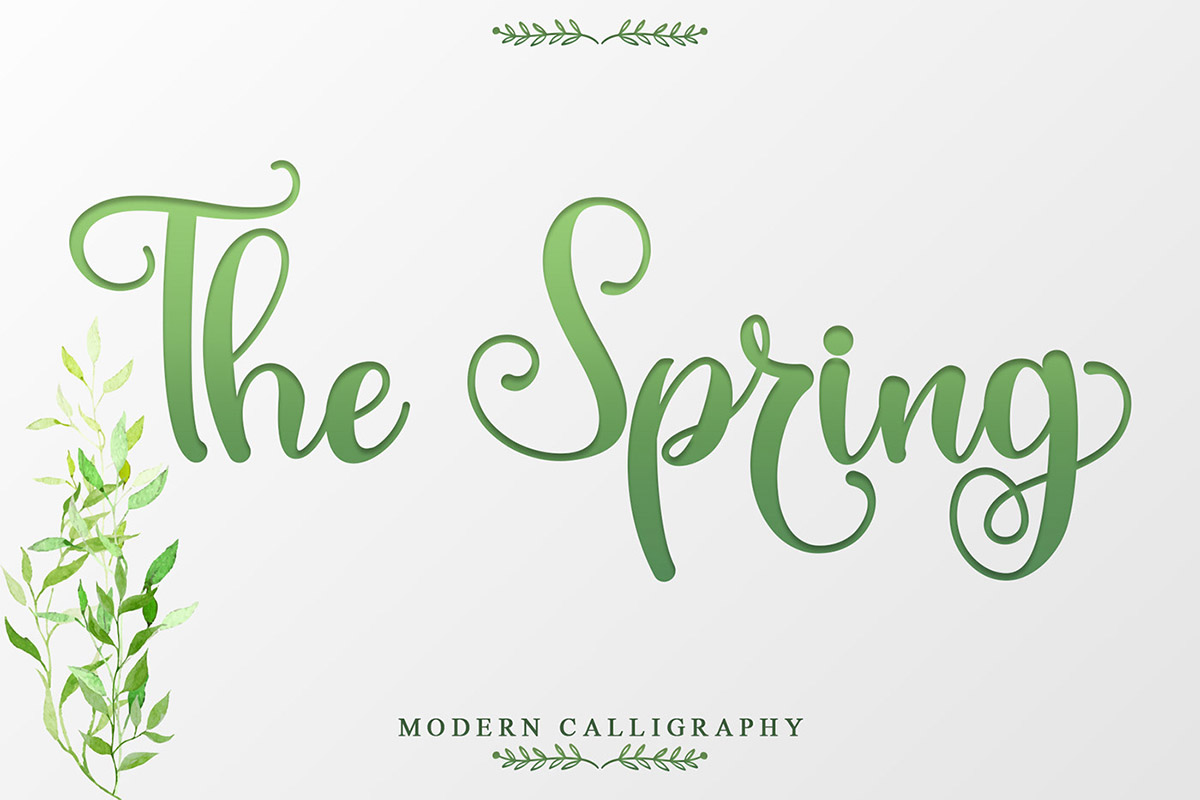 Free The Spring Calligraphy Font