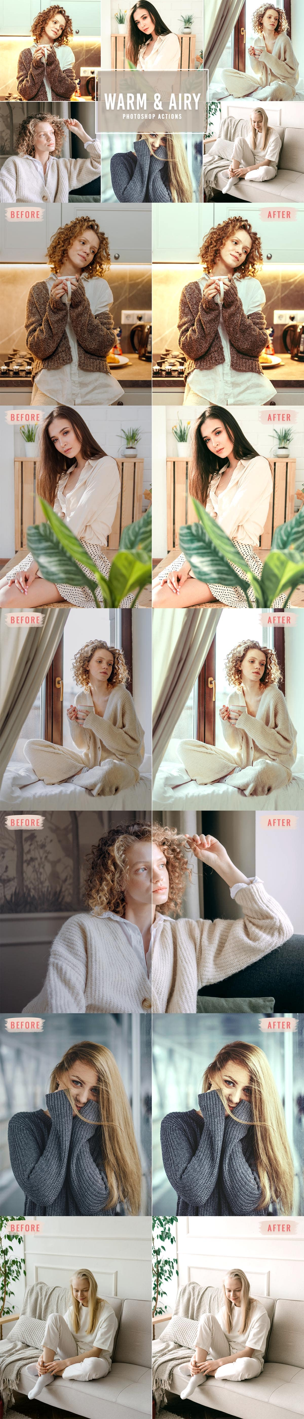 Free Warm & Airy Photoshop Actions