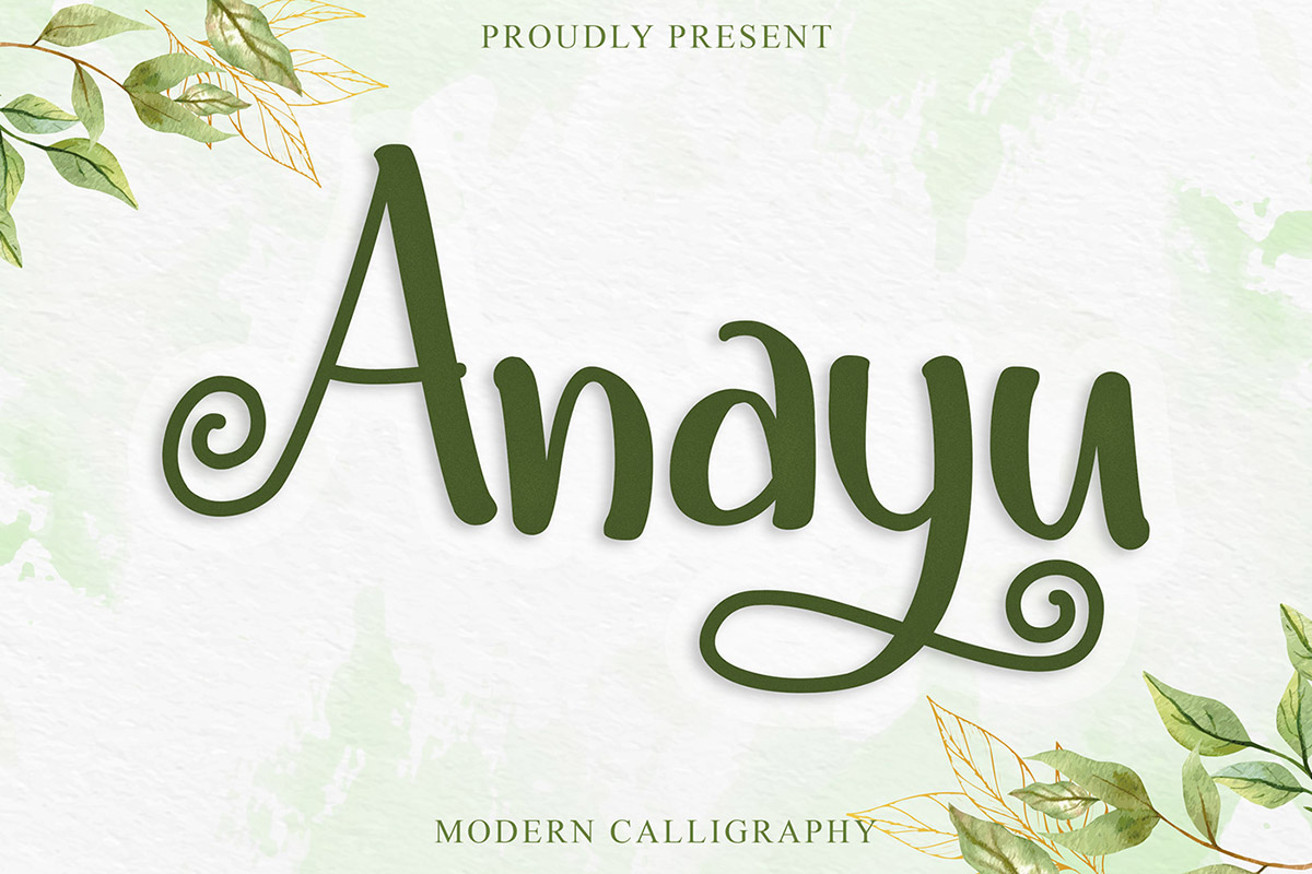 Free Anayu Calligraphy Font