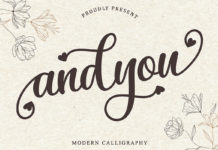 Free Andyou Calligraphy Font