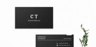 Free Black Creative Business Card Template V1