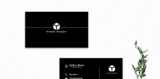 Free Black Minimalist Business Card Template V2