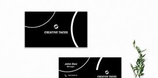 Free Black & White Creative Business Card Template V2