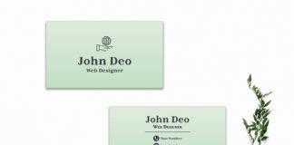 Free Green Minimalist Business Card Template V2