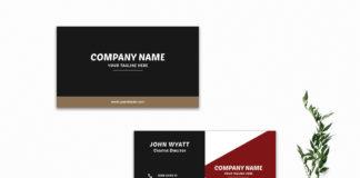 Free Innovative Modern Business Card Template