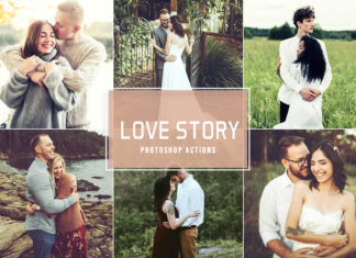Free Love Story Photoshop Actions