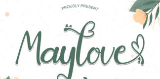 Free Maylove Calligraphy Font