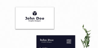 Free Minimal Blue Business Card Template