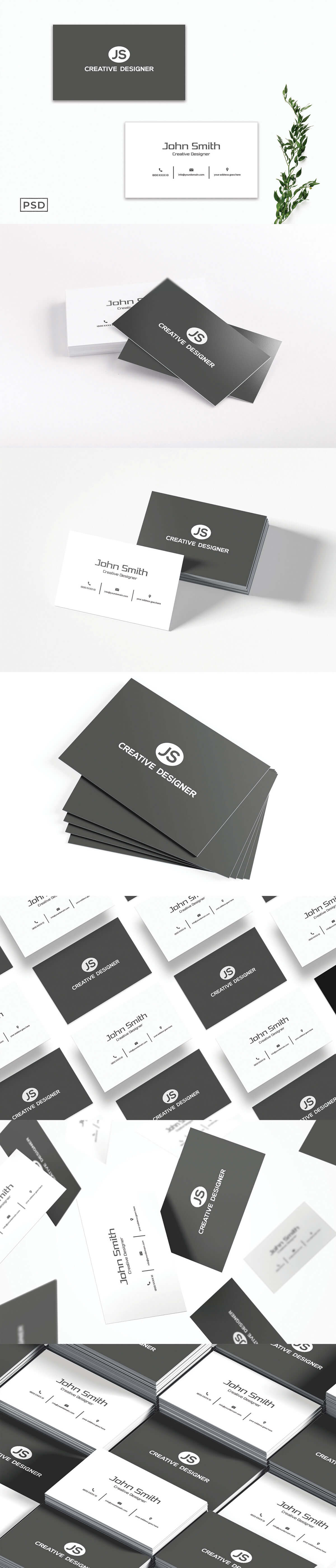 Free Minimal Business Card Template V6