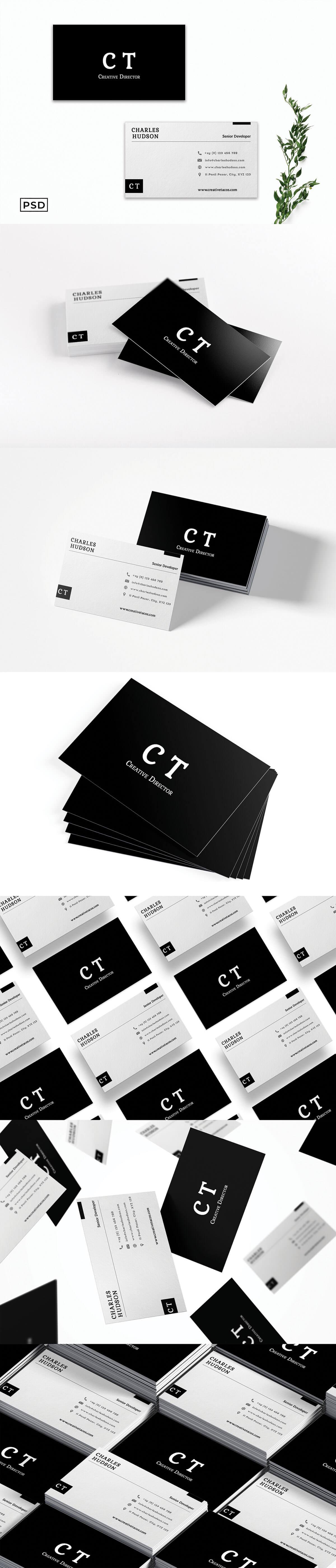 Free Modern Business Card Template V3