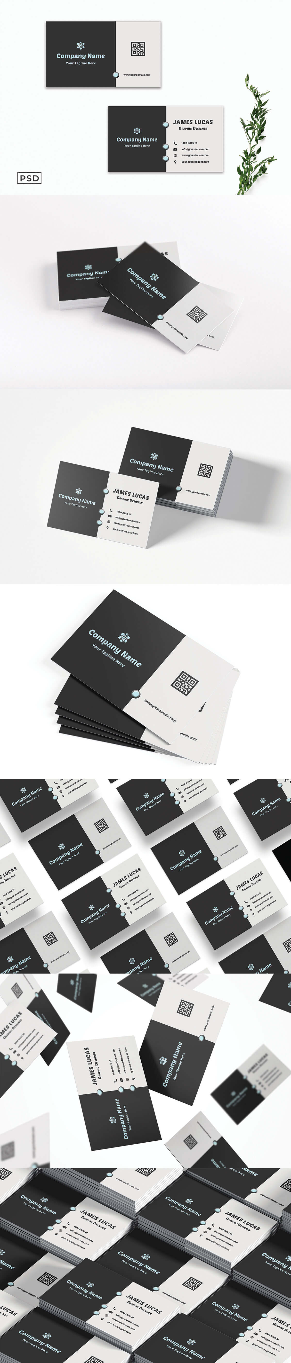 Free Modern Business Card Template V4