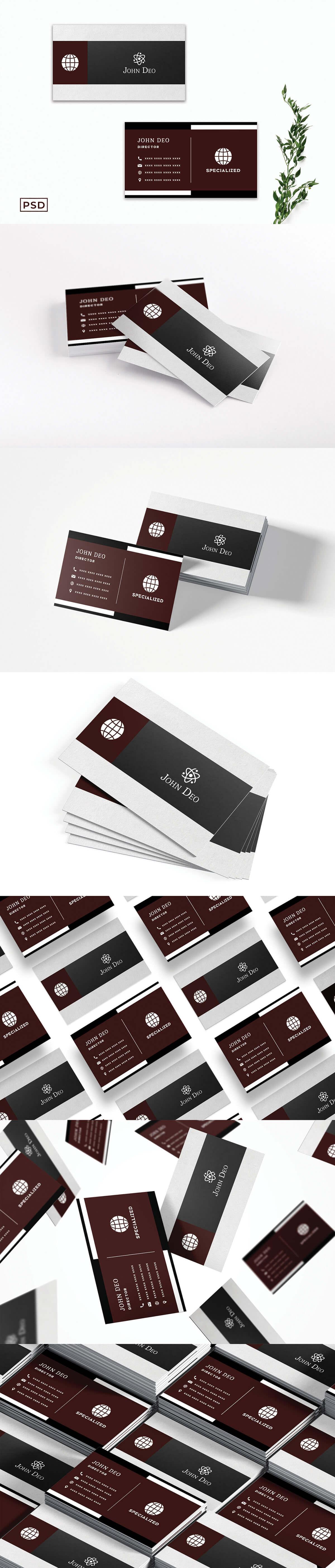 Free Modern Ornamental Business Card Template