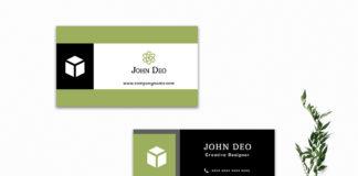 Free Ornamental Business Card Template