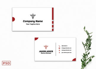 Free Red Business Card Template V2