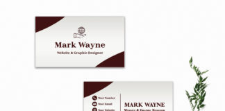 Free Red Creative Business Card Template