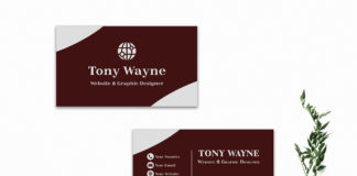 Free Red Creative Business Card Template V2