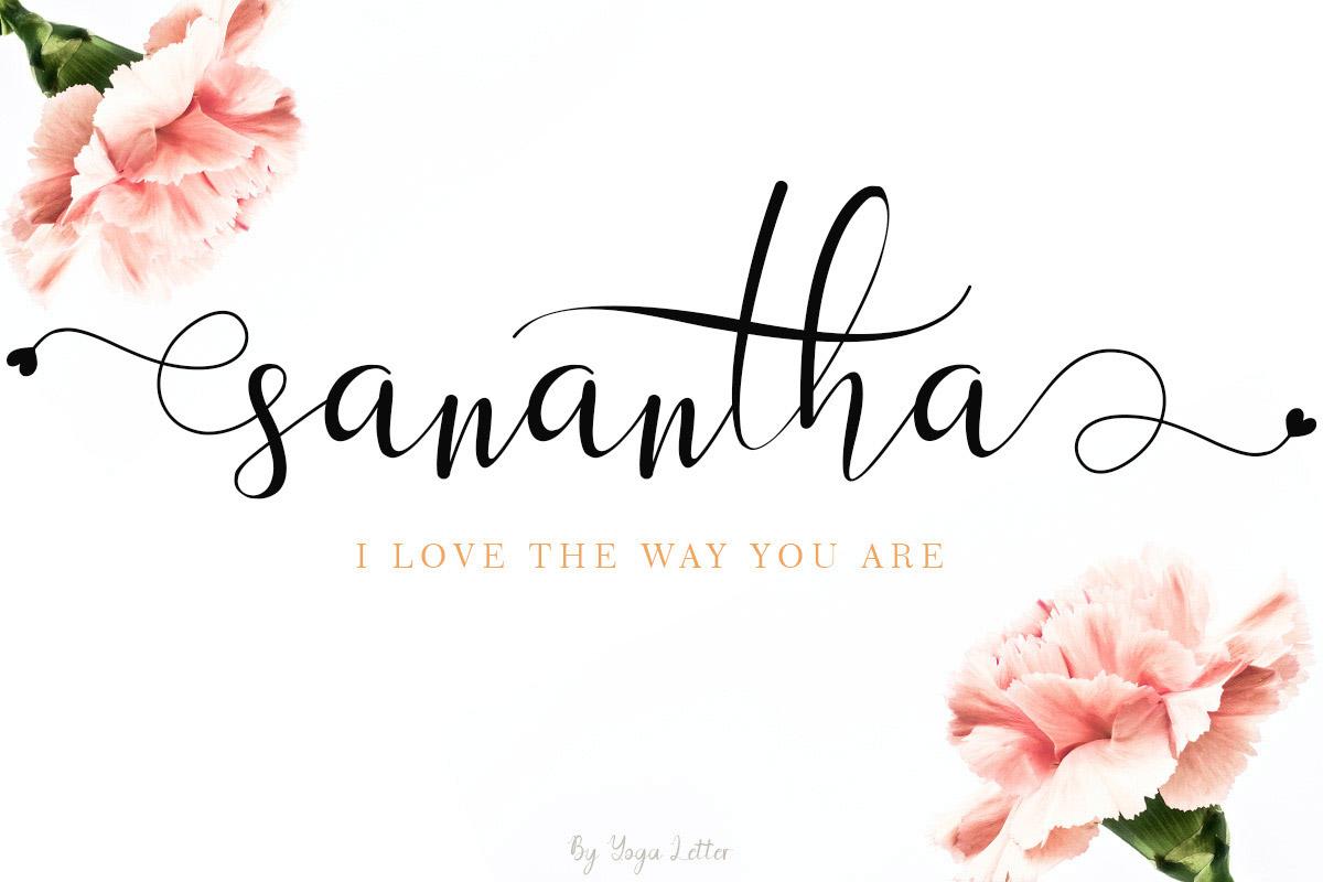 Free Sanantha Script Font