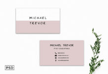 Free Simple Business Card Template V4