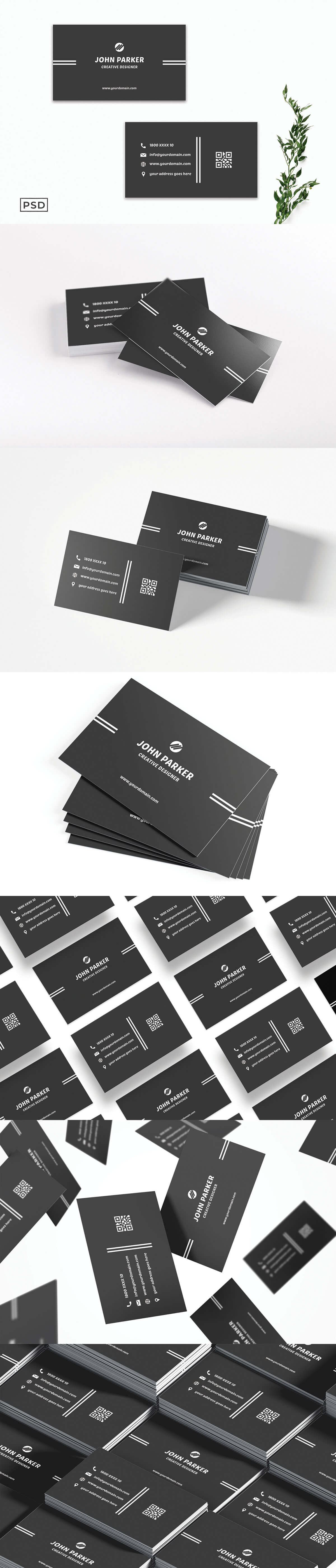 Free Simple Creative Business Card Template V3