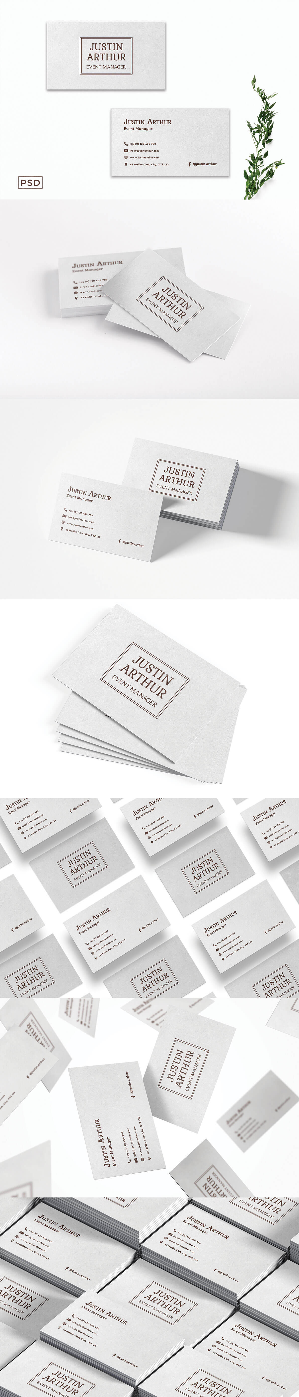 Free Simple Modern Business Card Template V2