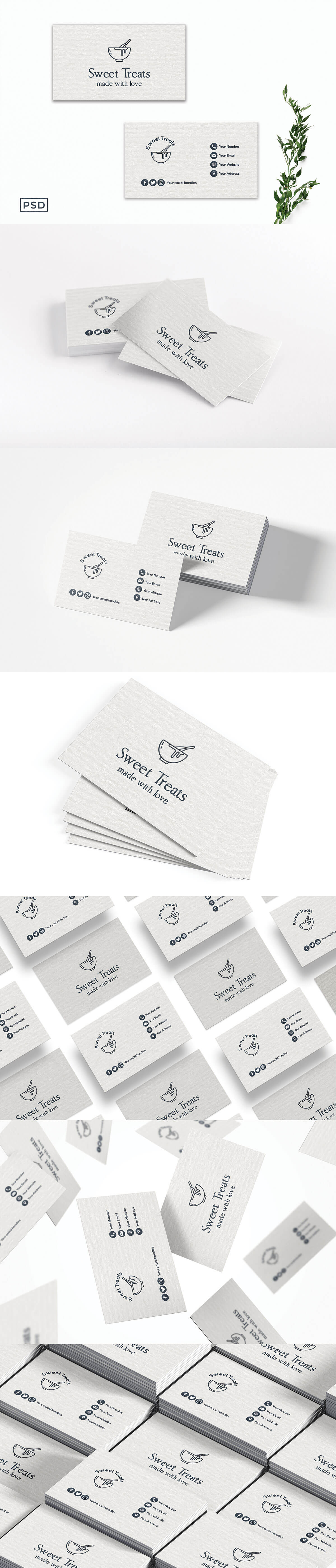 Free Simple White Business Card Template