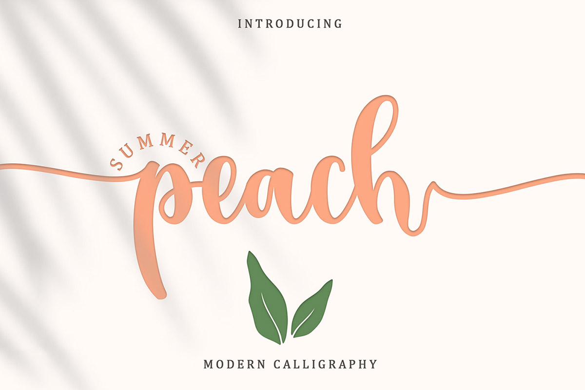 Free Summer Peach Caligraphy Font