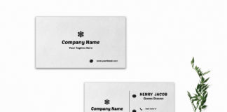 Free White Innovative Business Card Template