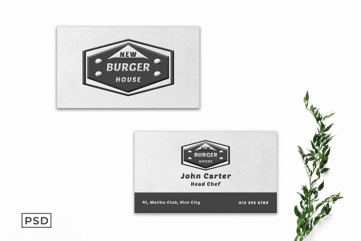 Free White Ornamental Business Card Template