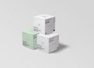 Free Box Square Mockup