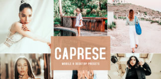 Free Caprese Lightroom Presets