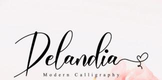 Free Delandia Calligraphy Font