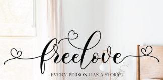 Free Freelove Script Font