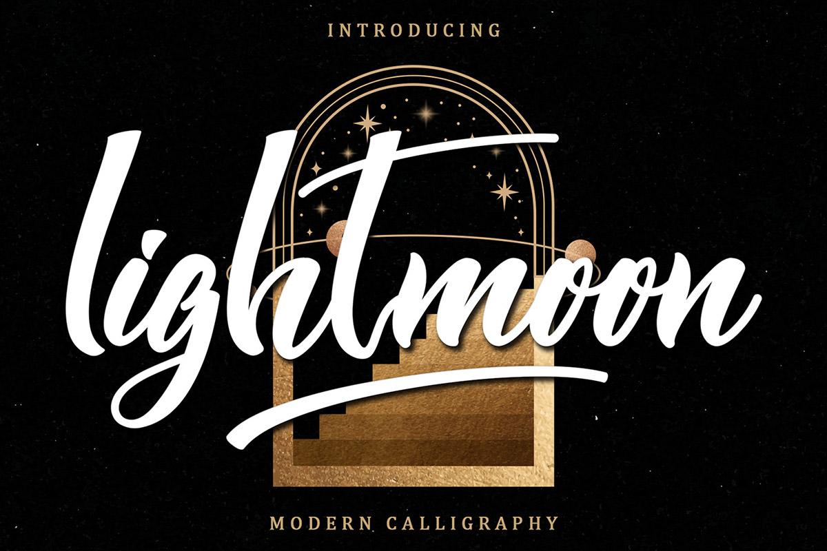 Free Lightmoon Calligraphy Font