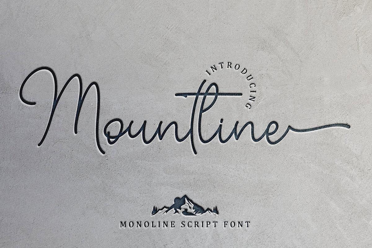 Free Mountline Script Font