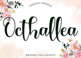 Free Octhallea Calligraphy Font