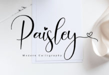 Free Paisley Calligraphy Font
