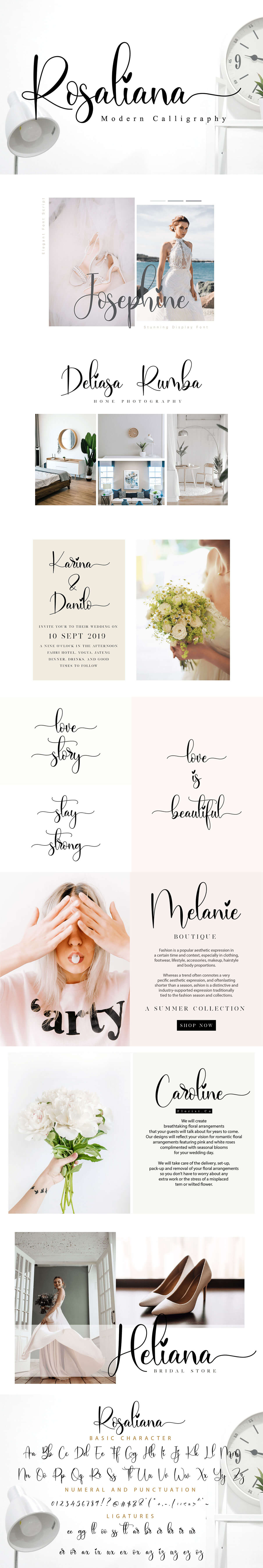 Free Rosaliana Calligraphy Font