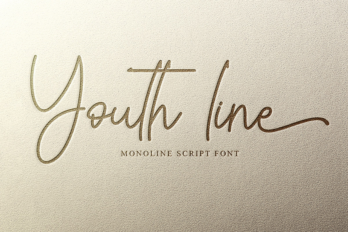 Free Youth Line Script Font