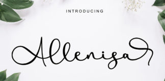 Free Allenisa Calligraphy Font