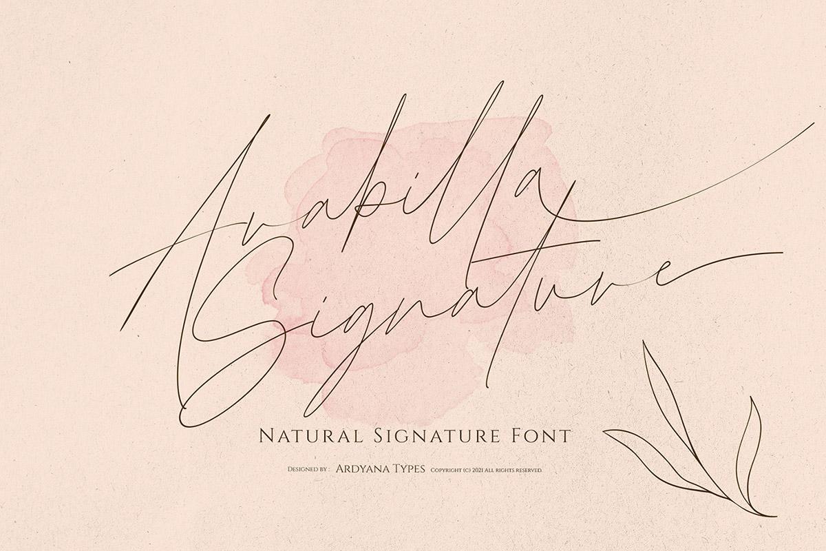 Free Arabilla Signature Font