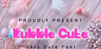 Free Bubble Cute Handwritten Font