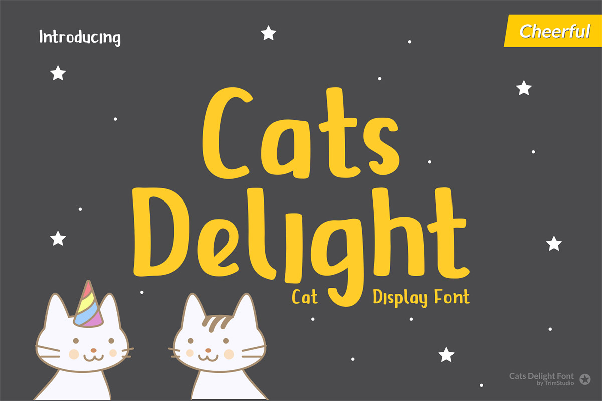 Free Cats Delight Display Font