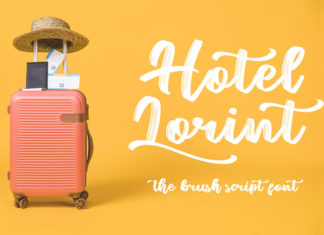 Free Hotel Lorint Brush Script Font