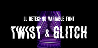 Free LL DEtechno Display Typeface