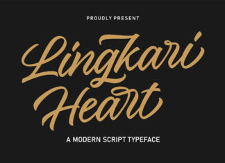 Free Lingkari Heart Handwritten Font