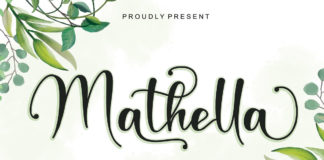 Free Mathella Calligraphy Font