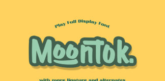 Free Moontok Display Font
